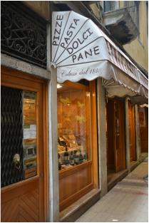 Colussi il Fornaio, bakery in Venice Italy