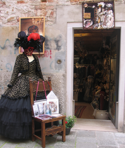 Atelier Flavia Venice, Carnival Masks and Costumes in Venice Italy