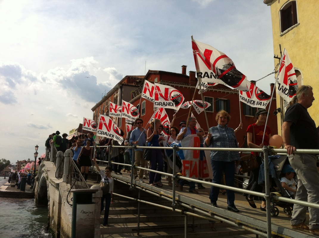 No Grandi Navi Venezia, Cruise Ship Protest in Venice