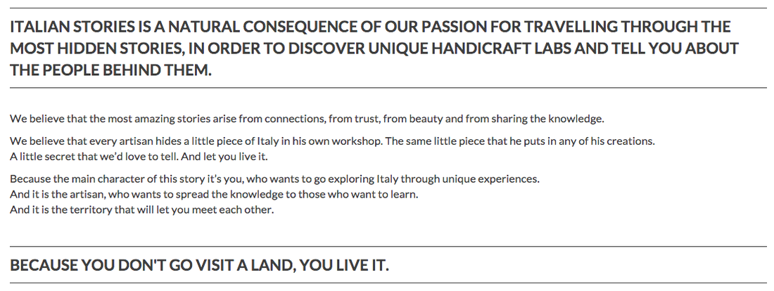 Italian Stories Manifesto: Because You Don't Go Visit A Land, You Live It