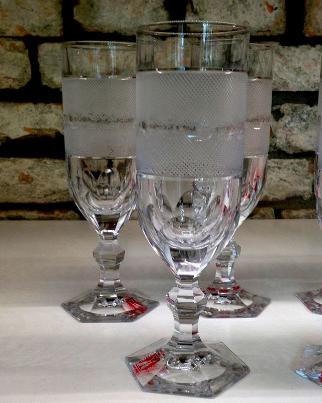Engraved Crystal Glasses, Engraved Murano Glass, Panizzi Murano, Franco and Mauro Panizzi