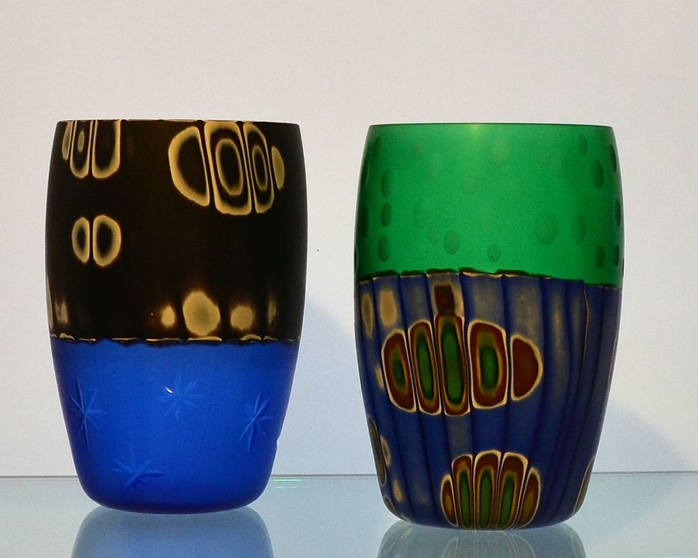 Panizzi Murano, Mauro and Franco Panizzi, Contemporary Murano Glass, Murano Glass Fusion, Murano Glass Murrine, Murano Glass Cups, Murano Glass Glasses, Murano Glass Design, Panizzi Murano Glasses