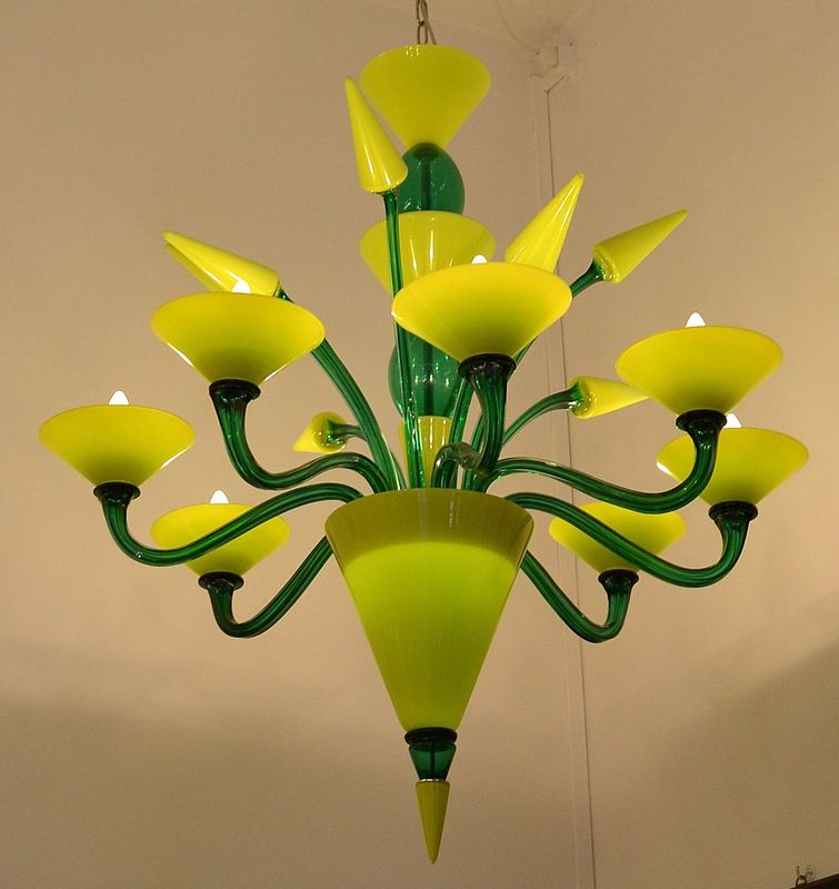 Gabbiani Venezia, Gabbiani Murano Glass, Murano Glass Design, Original Murano Glass, Murano Glass for Interior Design, Murano Glass Chandelier, Contemporary Murano Glass Chandelier, Green Murano Glass Chandelier, Yellow Murano Glass Chandelier, Luxury Murano Glass